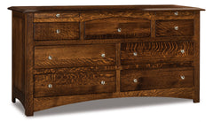 Finland 7 Drawer Dresser w/Arch Drawer, 2 Jewelry Drawers
