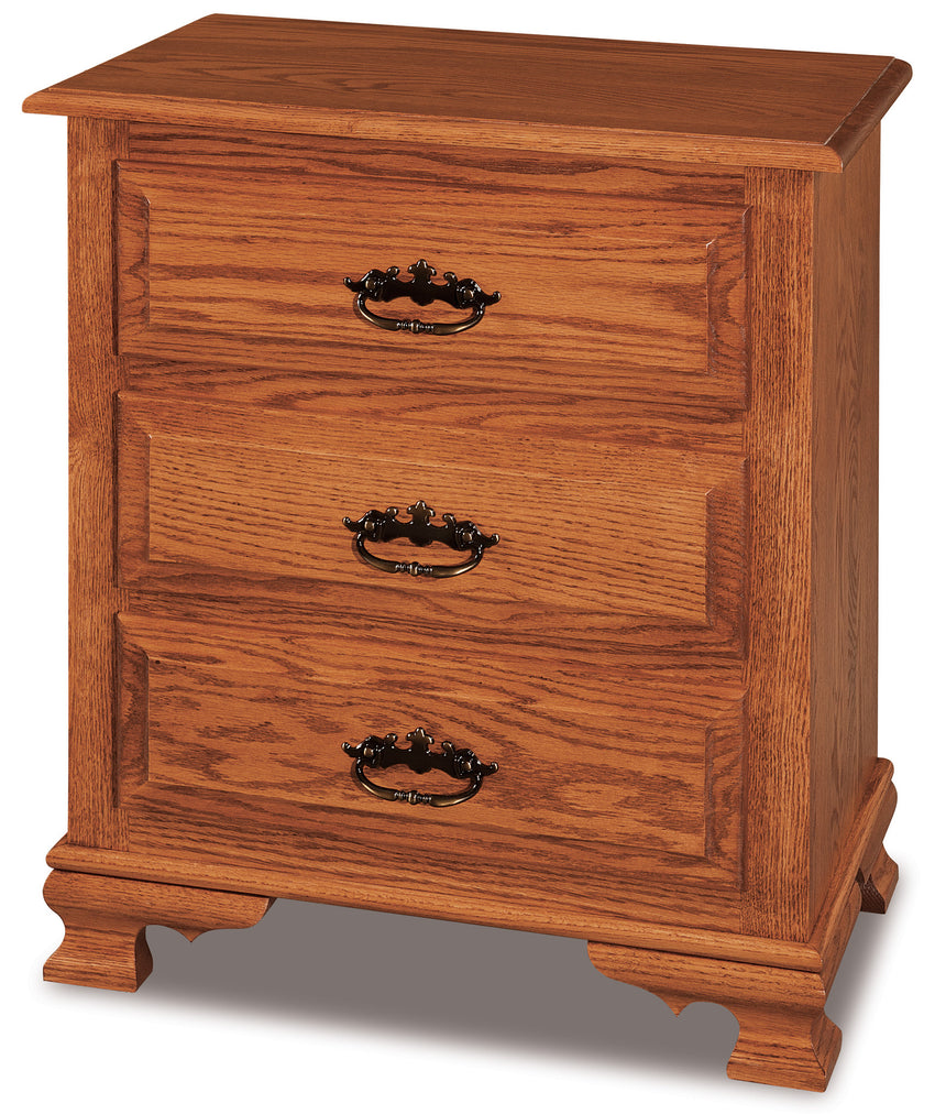 Hoosier Heritage Taller Nightstand, 3 drawers
