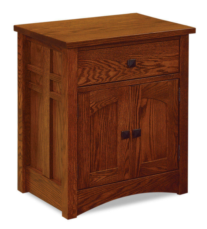 Kascade Nightstand 1 Drawer, 2 Doors