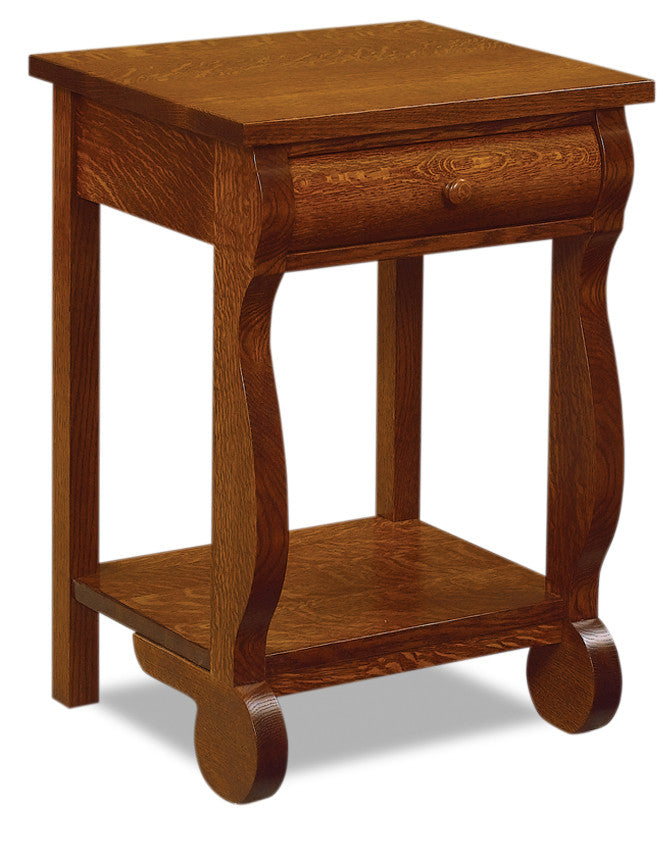 Old Classic Sleigh 1 Drawer Open Nightstand