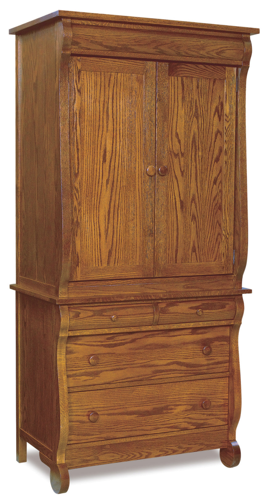 Old Classic Sleigh Armoire 2 pc.