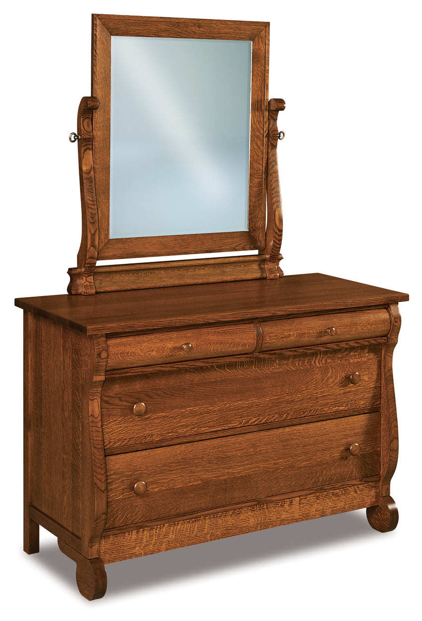 Old Classic Sleigh Beveled Swinging Mirror