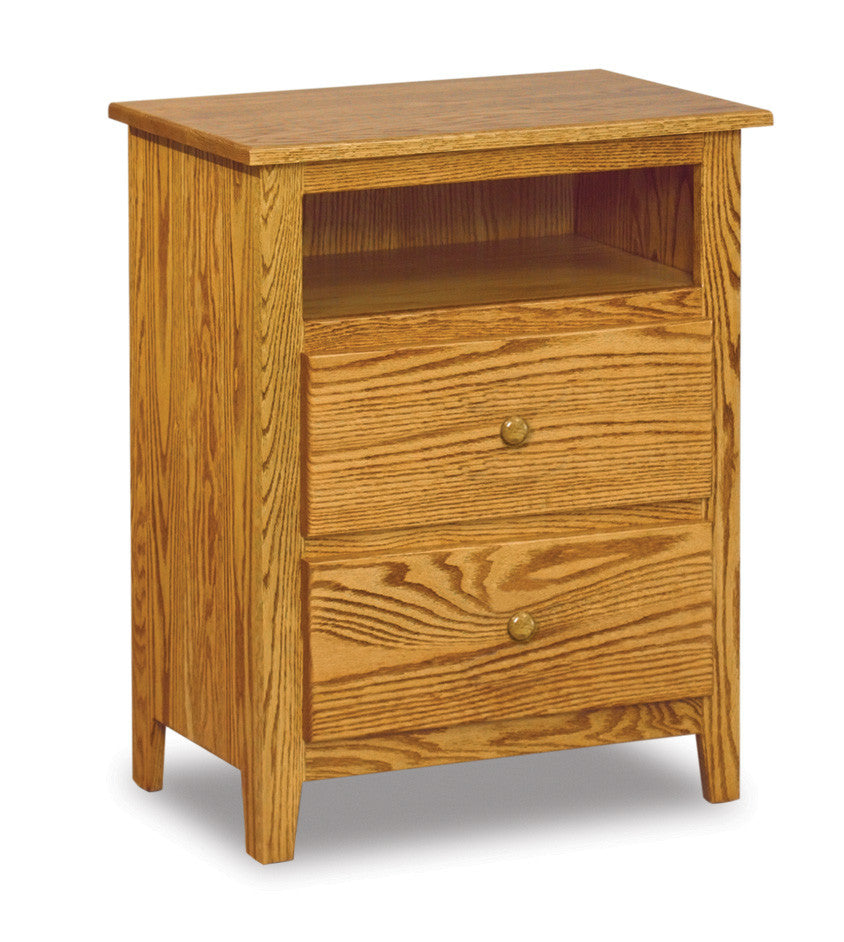 Shaker 2 Drawer Nightstand with Opening
