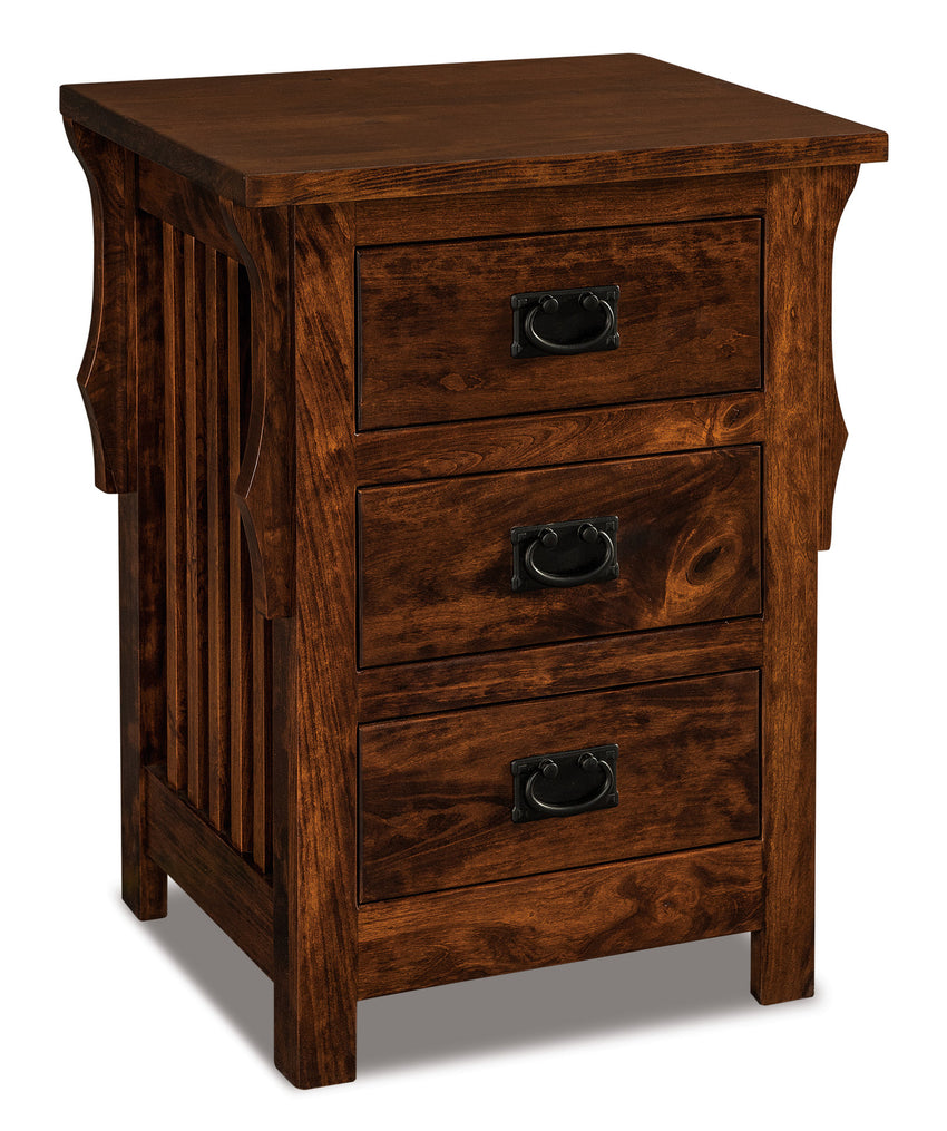 Stick Mission 3 Drawer Nightstand