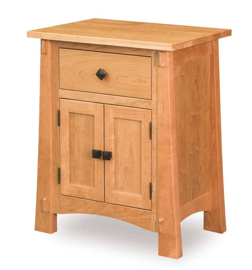 "Modesto 30""H Nightstand, 2 Door, 1 Drawer"