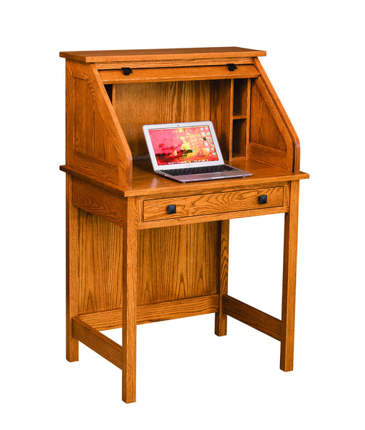 "30"" Post Mission Rolltop Desk with Laptop Cubbyhole"