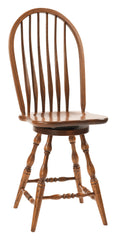 Bent Feather Bow (Deep Scoop) Swivel Barstool