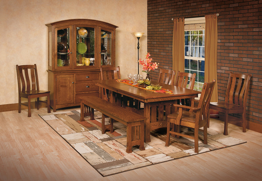 Olde Century Mission Trestle Table (WP)