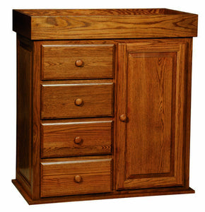 Reversible changing Table/Dresser with Wardrobe