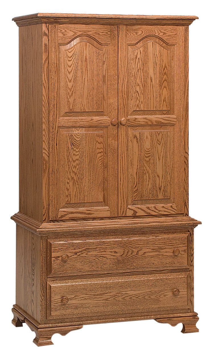 Heritage Armoire Chest on Chest, 2 Drawers, 2 Doors (2 pc.)