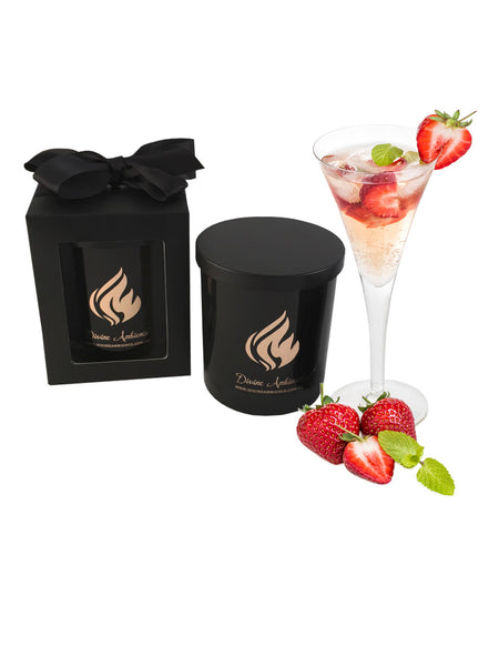 Champagne & Strawberry Scented Candle | Oxford Collection
