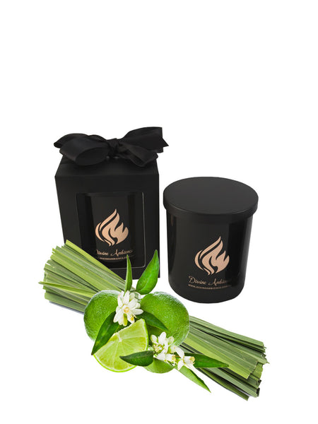 Lemongrass & Persian Lime Scented Soy Candle | Oxford Collection