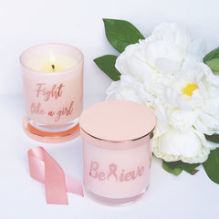 Pink Ribbon Candle | You are stronger than you think