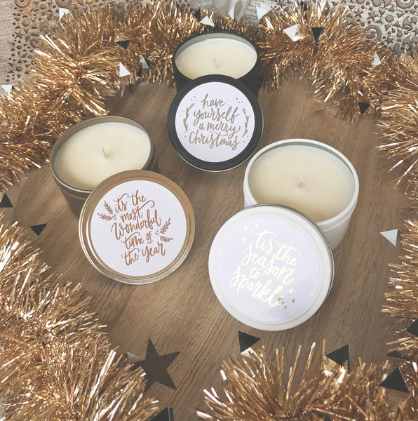 Scented Candles | Christmas Travels Tins