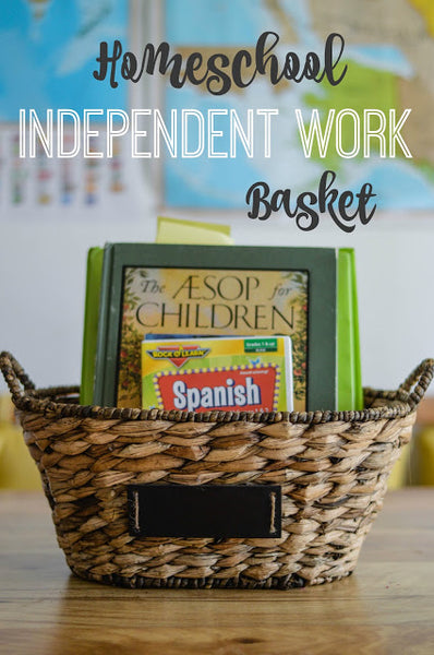 Homeschool Independent Work Basket