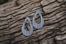 Silver Mermaid Tear Drop Earrings
