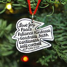 Fruit of the Spirit Dove Christmas Ornament