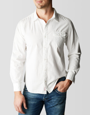 SOLID SINGLE POCKET MENS SHIRT