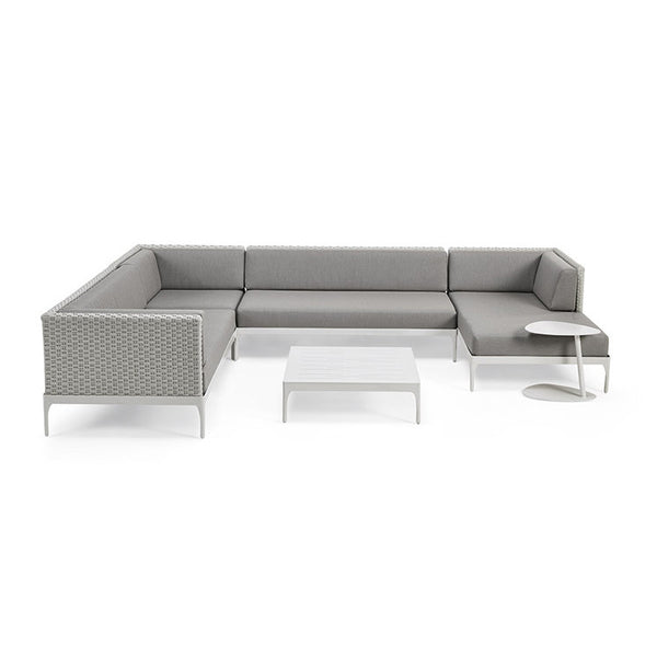 4 Piece Infinity Sectional Configuration - Outdoor Furniture, Planters, Cushions, & More – Domus Outdoor