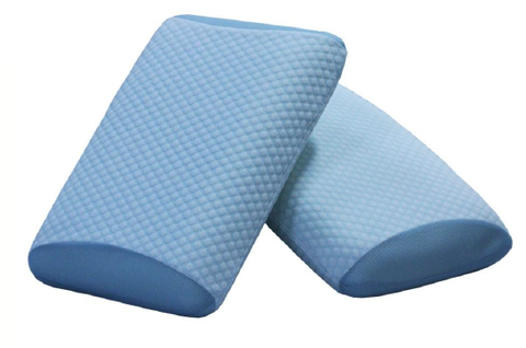Honeycomb gel panel memory foam traditional shape pillow