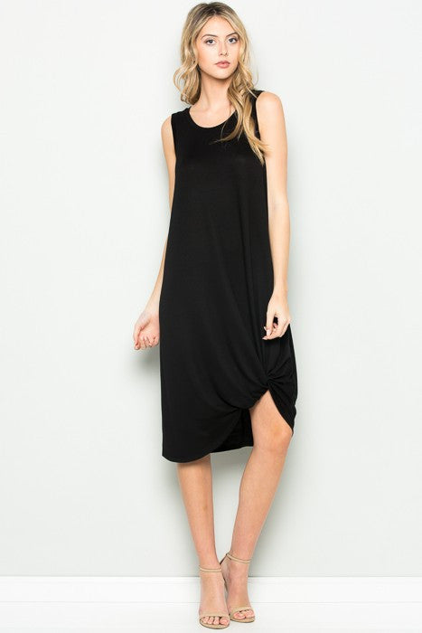 Black Knotted Dress
