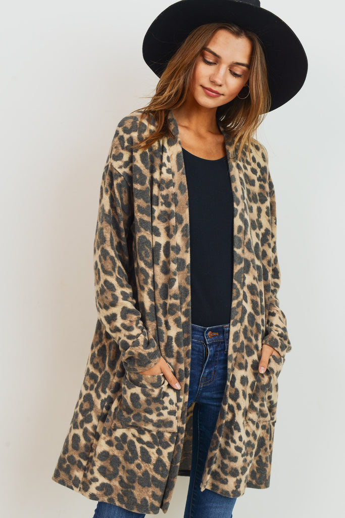 Brushed Leopard Cardigan