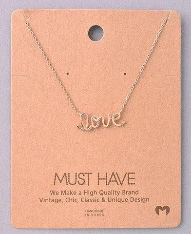 Dainty Necklace - Love