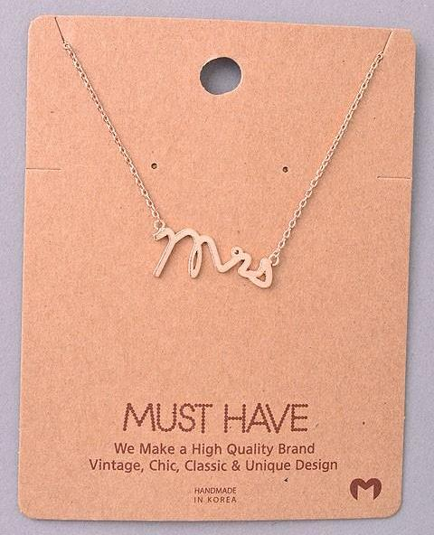 Dainty Necklace - Mrs