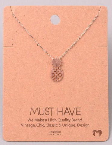 Dainty Necklace - Pineapple