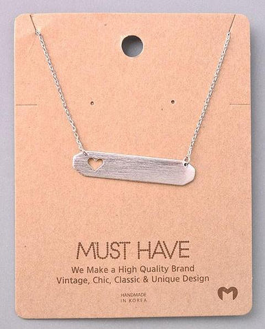 Dainty Necklace - Heart Cutout