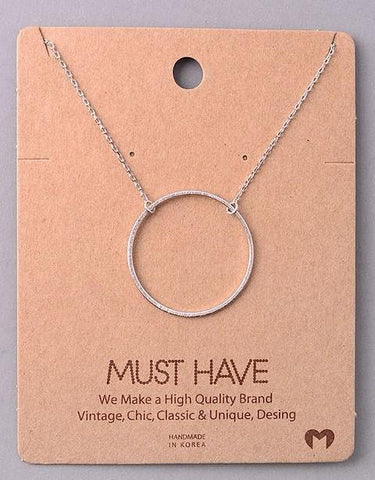 Dainty Necklace - Circle