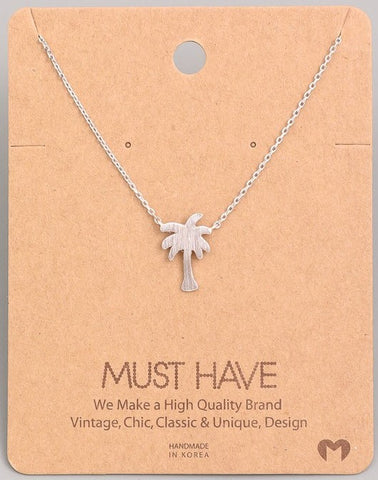 Dainty Necklace - Palm Tree