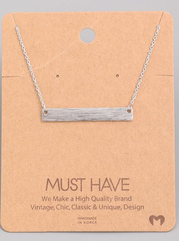 Dainty Necklace - Silver Bar
