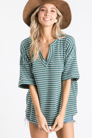 Oversize Striped Top