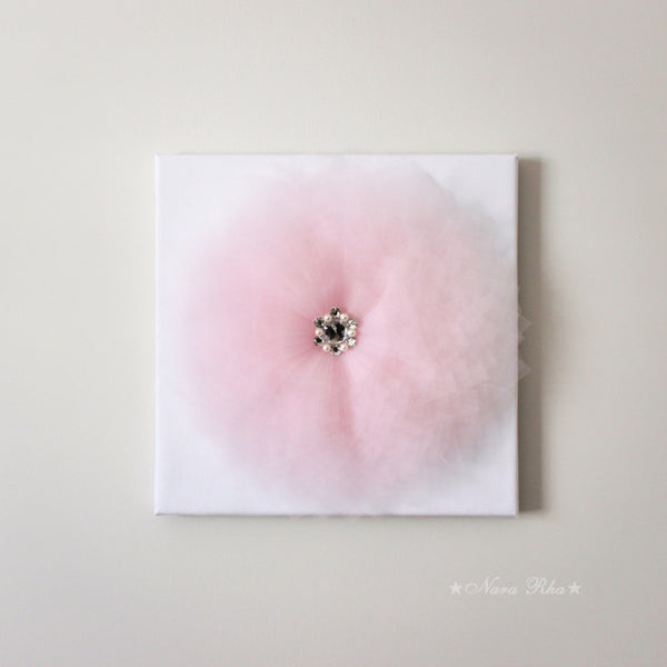 Baby Pink Pointy Flower Canvas Art