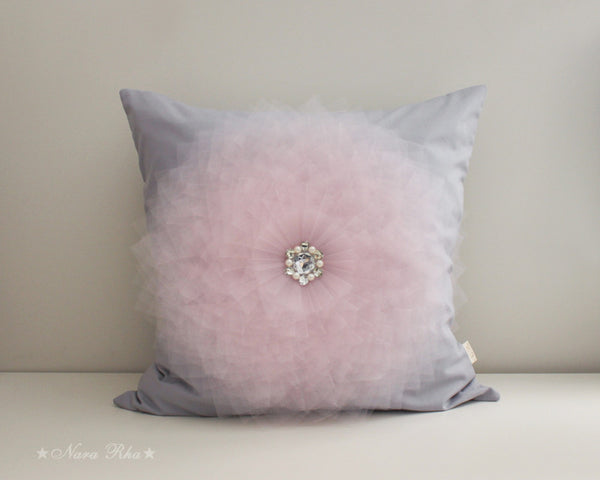 large flower pillow