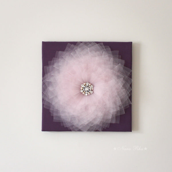 pink and purple wall art