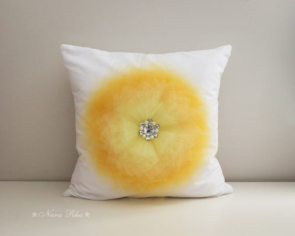 yellow flower cushion