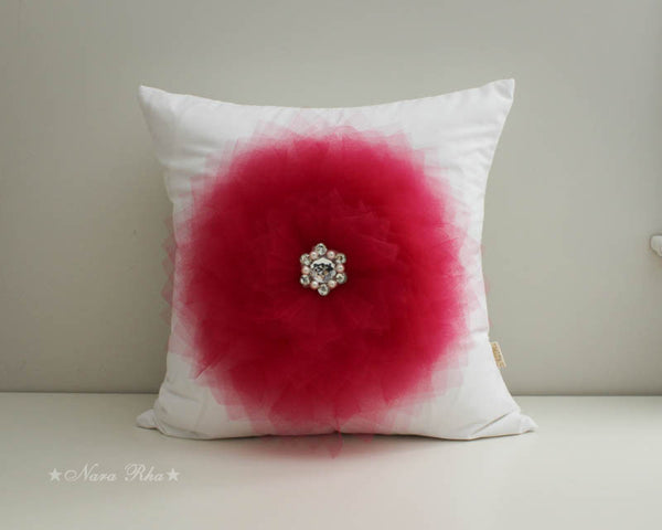 Garnet Flower Pillow Cover