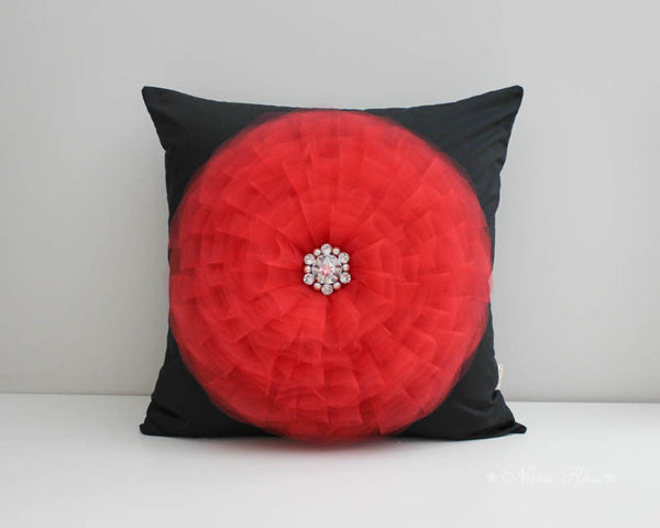 red flower home decor
