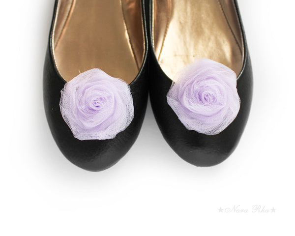 Rose Shoe Clips