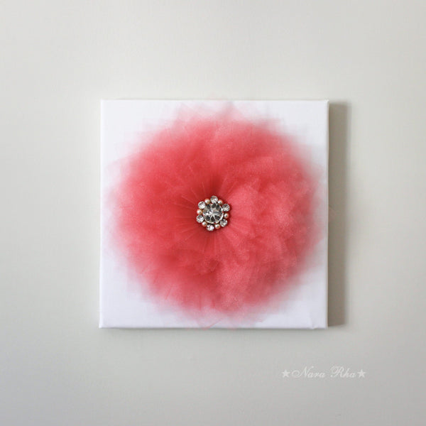 coral flower canvas