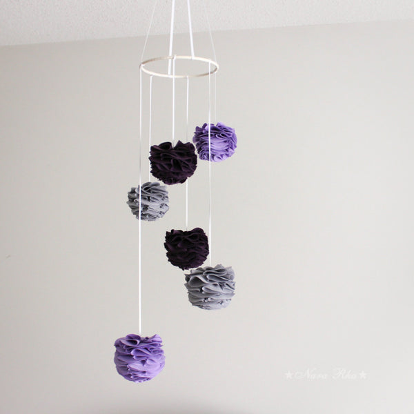 Custom Color Fabric Pom Pom Mobile - 4inch