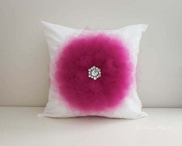 Fuchsia Flower pillow case