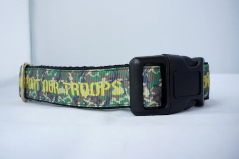 Support Our Troops collar