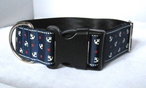 "1.5"" wide clasp anchors dog collar"