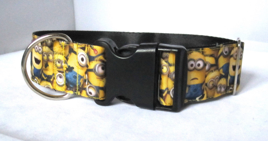 "1.5"" wide clasp little yellow dog collar"