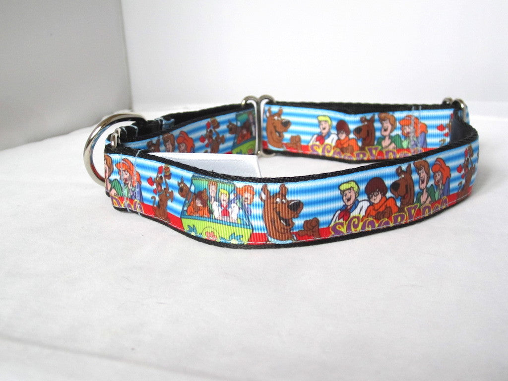 "1"" wide martingale Scooby dog dog collar"