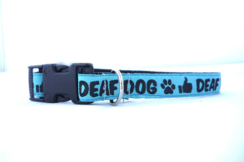 "3/4"" clasp collar- for the smaller pups- deaf dog"