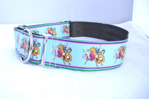 "1.5"" wide martingale adventure dog collar"